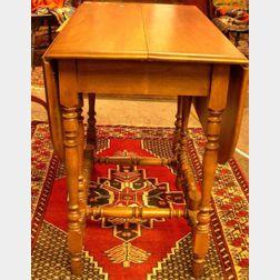 William & Mary Style Beechwood Drop-leaf Gate-leg Table