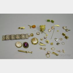 Group of Sterling Silver, Gold, and Gold-filled Jewelry