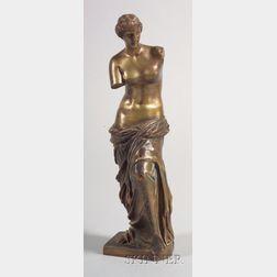 Grand Tour Patinated Bronze Figure of the Venus de Milo