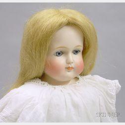 German Bisque Turned Shoulder Head Doll