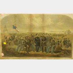 Framed Print of Civil War Soldiers and Politicians