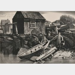 Stow Wengenroth (American, 1906-1978)      Kindred McLean Print (Rockport, Massachusetts)
