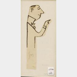 Ludwig Bemelmans (American, 1898-1962)      Sketch of a Man in Profile.