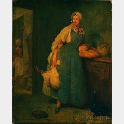 After Jean Baptiste Siméon Chardin (French, 1699-1779)      La Pourvoyeuse