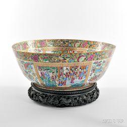 Large Rose Mandarin Punch Bowl