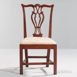 Carved Birch Side Chair