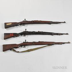 Three Chinese Mauser-type Military Rifles