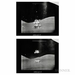 Taken by an RCA TV Camera Mounted to the Lunar Rover
