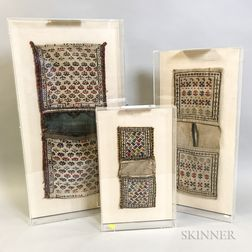 Three Mounted Shahsevan Pouches