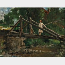 Julian Alden Weir (American, 1852-1919)    The Old Bridge