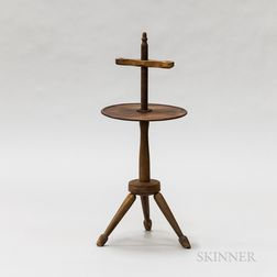 Country-style Turned Cherry Adjustable Candlestand