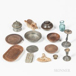 Fifteen Miniature Household Items