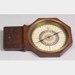 Mahogany Plane Table Surveyor's Compass by George Adams