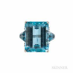 Tiffany & Co. Aquamarine and Diamond Ring