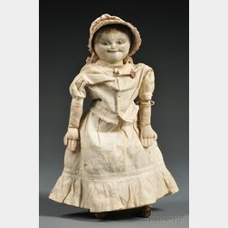 Painted Cloth Lady Doll