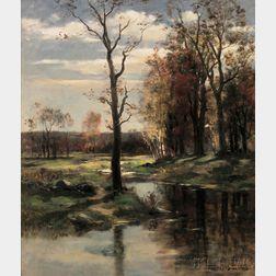 John Appleton Brown (American, 1844-1902)      River Landscape