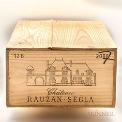 Chateau Rauzan Segla 2000, 12 bottles (owc)