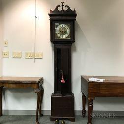 Edward Bird Inlaid Oak Longcase Clock