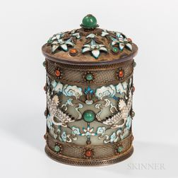 Openwork Gilt-silver Cloisonne Covered Box