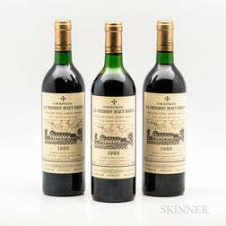 Chateau La Mission Haut Brion 1986, 3 bottles