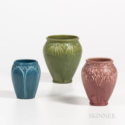Three Rookwood Pottery Vases