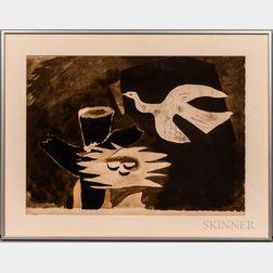 After Georges Braque (French, 1882-1963)      L'Oiseau et son nid