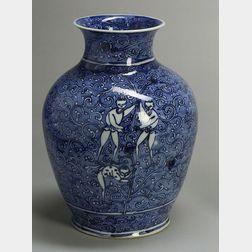 Underglaze Blue Porcelain Vase