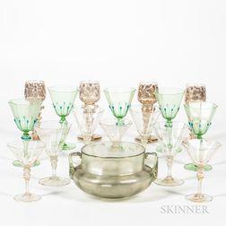 Group of Venetian Glass Tableware