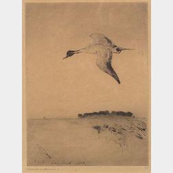 Frank Weston Benson (American, 1862-1951)    Souvenir of Long Point, 1918