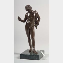 Grand Tour Patinated Bronze Figure of the Young Dionysus