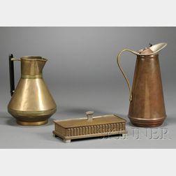Three Pieces of Arts & Crafts Metalwork