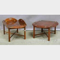 Pair of Chippendale-style Mahogany Butler's Tray Tables.