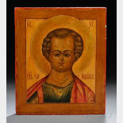 Russian Icon Depicting Christ Immanuel