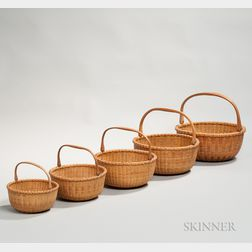 Five Nesting Nantucket Baskets