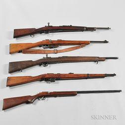 Five Bolt-action Rifles