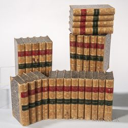 Decorative Bindings, Sets, Washington Irving's Works   in Twenty-seven Volumes, Sunnyside Edition.