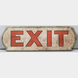 "Paint-decorated ""EXIT"" Sign"