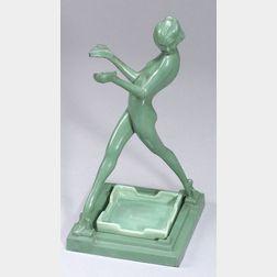 Frankart Art Deco Figural Ashtray