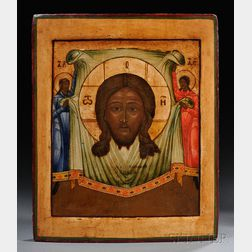 Russian Icon Depicting the Image Not Made by Hands