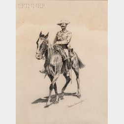 Frederic Remington (American, 1861-1909)      Regular Cavalryman-Spanish