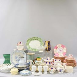 Large Group of Assorted Porcelain and Ceramic Tableware