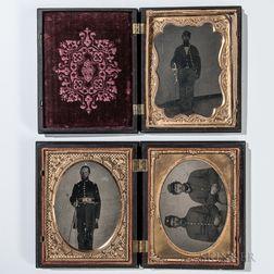Three Quarter-plate Civil War Cased Images