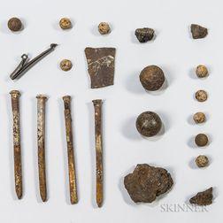 Group of Revolutionary War-era Relics