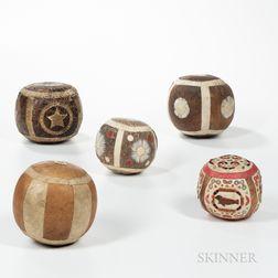 Five Eskimo Game Balls
