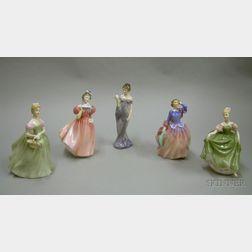 Five Royal Doulton Ceramic Character Figures
