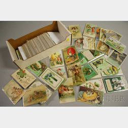 Approximately 250 Early 20th Century Easter and Twenty St. Patricks Day Postcards.