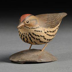 Jess Blackstone Miniature Carved and Painted Ovenbird Figure