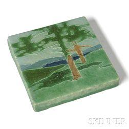 Grueby Pottery Tile