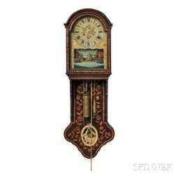 Marquetry Friesland Wall Clock with Automata