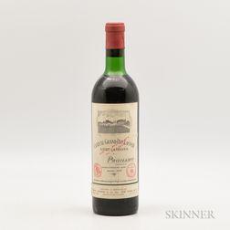 Chateau Grand Puy Lacoste 1970, 1 bottle